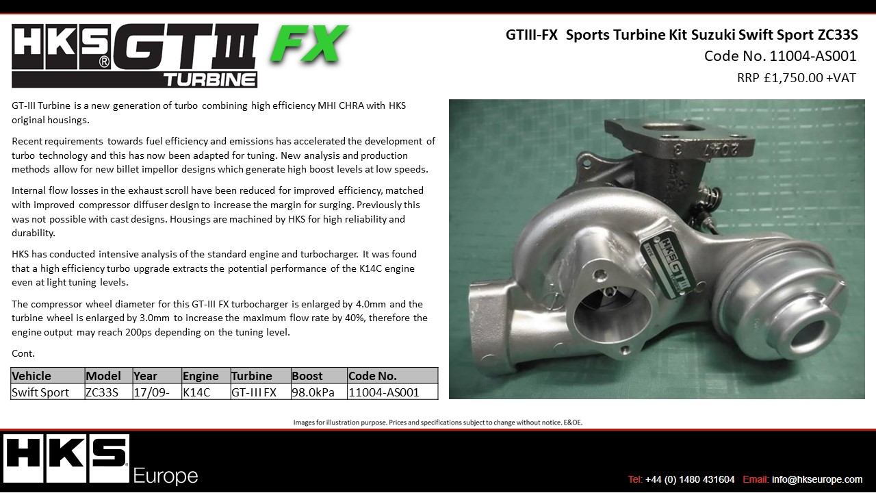 it was found that a high efficiency turbo upgrade extracts the potential  performance of the k14c engine even at light tuning levels